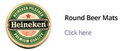 printed round beermats